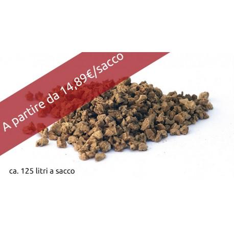 CORK GRANULES  granuli in sughero biondo