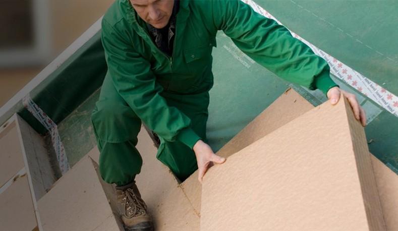 Fibra di legno per tetti