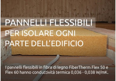 Fibra di legno isolante flessibile per ogni parte dell'edificio