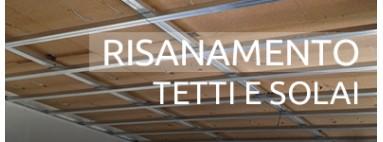 Risanamento in Fibra di legno di tetto e solaio